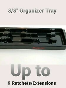 SNAP ON 3/8 ratchets and extensions Organizer Holder Tray 9+ slots stores clean!
