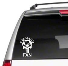 """88 Dale Earnhardt Jr Fan Punisher 8"""" Car Vinyl Sticker Decal legend nascar  *B10"""