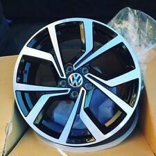 "18"" Alloy Wheels VW Golf R Line Style Black Polished Face"