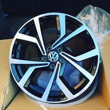 "18"" Alloy Wheels VW Golf R Line Style Black Polished Face"