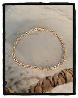 Bracelet Maille forçat 18CM Plaqué Or 18 carats 750/1000 Bijoux MIXTE