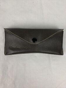 Vintage Charles Daly Leather Eyeglass Case Hard Liner For Protection. NOS