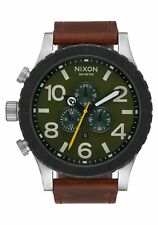 **BRAND NEW** NIXON WATCH THE 51-30 CHRONO LEATHER SURPLUS / BROWN A1242334 NIB!