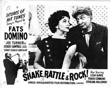 Shake Rattle & Rouleau Original Lobby Carte Fats Domino Argent Holloway Lisa