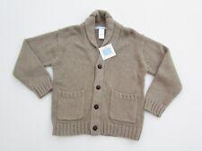 Janie and Jack 3 Boy's NWT Polar Wonderland Ecru Button Up Cardigan Sweater KK1