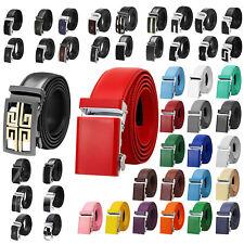 Falari® Men's Genuine Leather Dress Ratchet Belt Adjustable Size Variety Colors