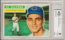 1956 TOPPS #137,  AL SILVERA, BECKETT GRADED 8 (BCCG), WELL CENTERED, GREAT CARD