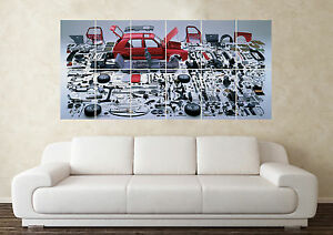 Large Volkswagen Golf GTI MK1 2 3 4 5 R32 VR6 G60 Wall Poster Art Picture Print