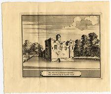 Antique Print-HEEMSTEDE-BERKENRODE-KASTEEL-CASTLE-NETHERLANDS-Schijnvoet-Roghman