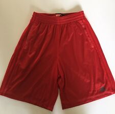 NEW Men's Adidas Red Black Basketball Shorts Lined Drawstring Medium