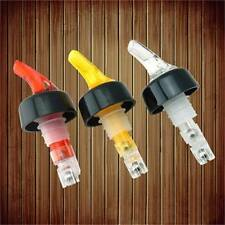 3pcs Liquor Measured Pour Spout Drink Bar Dust Cap Pourer Cover Sure Shot Bottle