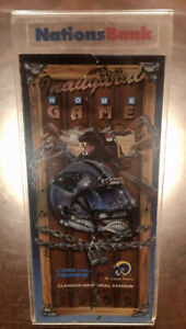 NFL Carolina Panthers Souvenir Inaugural 1st Home Game Ticket Display Stand 1995