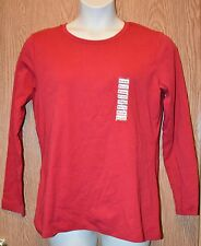 Womens Red Style&co. Long Sleeve Tee Shirt Size XL NWT NEW