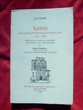 Marcel Barbal, J.-B. Favre, Lettres à son neveu, le Chevalier de Saint-Castor