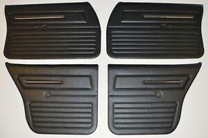 Holden HJ HX HZ Kingswood Full Set of Front and Rear Door Trim Panel (Black)