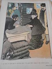 1897 Original Print Caricature Pour faire un acadeau à une cousine pauvre