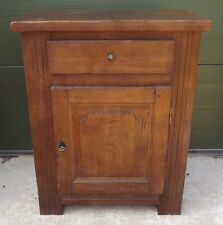 Solid Oak Side Cabinet Small Sideboard in the Antique Rustic Style