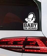 Baby on Board Aufkleber Auto Heckscheiben Sticker Cool Baby Sticker Musik Decal