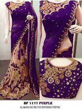 Latest Indian Wedding Sari Designer Georgette Partywear Saree with Blouse Bf1354