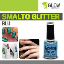SMALTO GLITTER BLU smalti unghie luccicanti brillantini make up nail art 30308