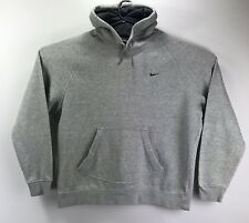 Vintage Nike Air Sport Small Logo Hoodie Sweater Jumper Grey Medium M