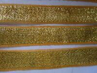 2 meter spitze 1,3  cm Gold und Gelb Borte elegante C0216