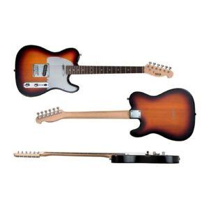 Indio Retro Classic Electric Guitar with Gig Bag - Sunburst