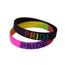 Pride Rainbow wristband silicone bracelet bangle gift AWARENESS