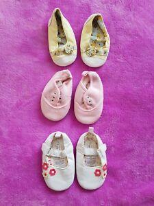 Baby girls Size 36 months pram shoes bundle (3 pairs)