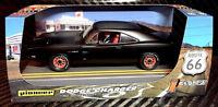 "Pioneer ""Route 66"" Ultra Black 1969 Dodge Charger Hemi DPR 1/32 Slot Car P089"