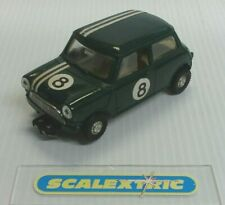 SCALEXTRIC Tri-ang 1963/65 C76 MINI COOPER FWD GREEN #8 (EXCELLENT) RUNS WELL