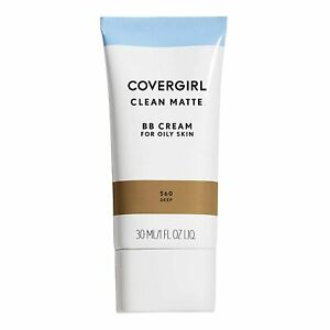 NEW COVERGIRL Clean Matte BB Cream for Oily Skin in 560 Deep Dark (Sealed)