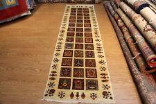TOP QUALITY 10 ft. RUNNER handmade vegetable dye Oriental rug Beige Ivory Cream