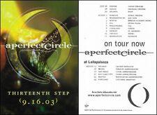 "A Perfect Circle ""Thirteenth Step"" Promo Sticker Tool Puscifer Maynard Keenan"