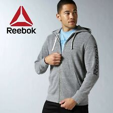 Reebok Elements Mens Big Logo Full Zip Hoodie Hoody Jacket Free Tracked Post