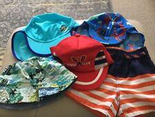Job lot Baby Sun Hats & swim shorts 6-9 months.