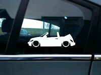 2X Lowered car stickers - for Chrysler PT Cruiser convertible