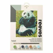 Reeves - Medium - Painting by Numbers Kit  Board / Paints / Brush  - PANDA