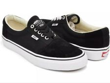 New Vans Mens 7 Womens 9.5 Rowley Solos Black White Canvas Suede Shoes Sneakers