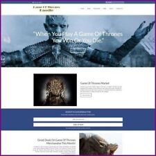 GAME OF THRONES Website Earn £703.92 A SALE|FREE Domain|FREE Hosting|TRAFFIC