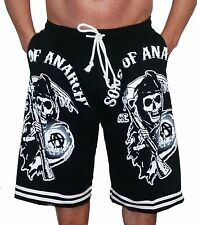 Sons of Anarchy Shorts T-Shirt Print with Left and Right Side Pockets
