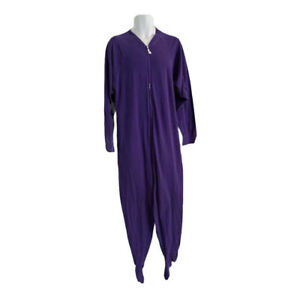 Jumpin Jammerz ADULT ONE PIECE FOOTIE FOOTED PAJAMAS Size Small Purple