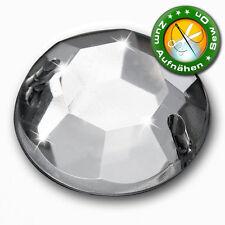 100 Strass-Steine zum Aufnähen, 8 mm, Crystal (aus Acryl)