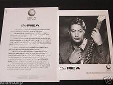 CHRIS REA 'NEW LIGHT THROUGH OLD WINDOWS' 1989 PRESS KIT--PHOTO