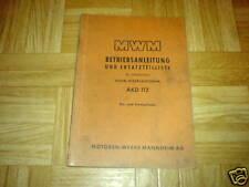 Orig. Bta. + ETL MWM AKD 112 Klein-Dieselmotor