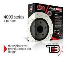 DBA T3 Front Slotted Rotors x 2 Holden Commodore VE Redline Brembo HSV DBA42604S