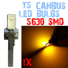 1 Ampoule LED T5 5630 SMD Habitacle Coleur Tableau de Bord Coleur Jaune 2E10 2E1