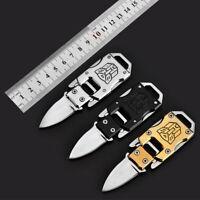 Outdoor Mini Folding Knife Stainless Steel Pocket EDC Key Keychain Survival Tool