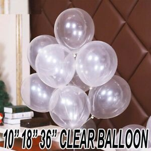 Bubble Clear Transparent Party Wedding 10/18/36 inch Small to Huge Balloon UK