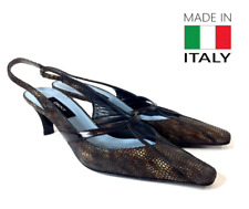 DKNY Womens Black Pointy Toe Slingback Sandals Shoes Size 7 B Made in Italy #yf